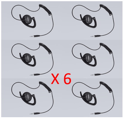 "Bundle - Hytera Receive ""Only Adjustable Earhook with Swivel Speaker (for use with PTT & MIC cable) - EH-02 - Radio-Shop.uk - 1"