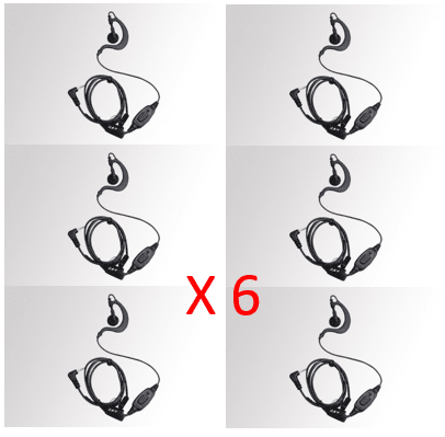 Bundle - Hytera C-shape earpiece with in-line mic/PTT with VOX function - EHS12_Radio-Shop UK