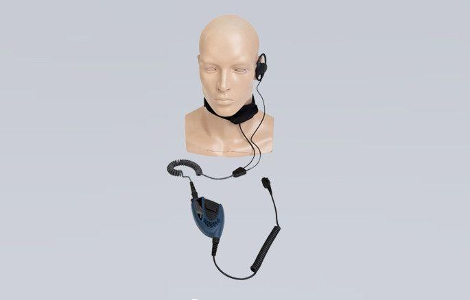 ATEX Throat Microphone Headset with PTT part - ELN09-Ex - Radio-Shop.uk