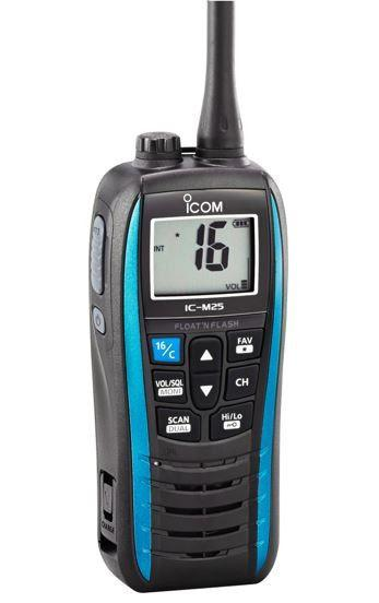 Icom Ic-M25 Floating Marine Two Way Radio - Blue Radios