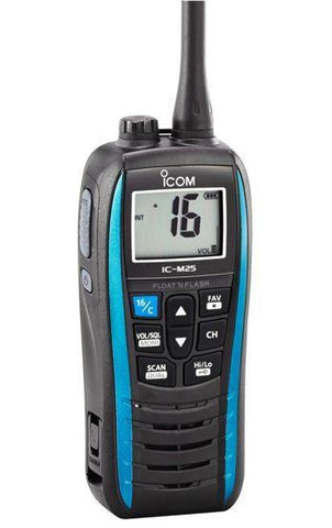 Icom IC-M25 Floating Marine Two Way Radio - Blue - radio-shop-uk.myshopify.com