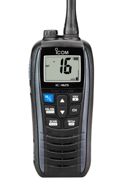 Icom IC-M25 Floating Marine Two Way Radio - Grey - Radio-Shop.uk