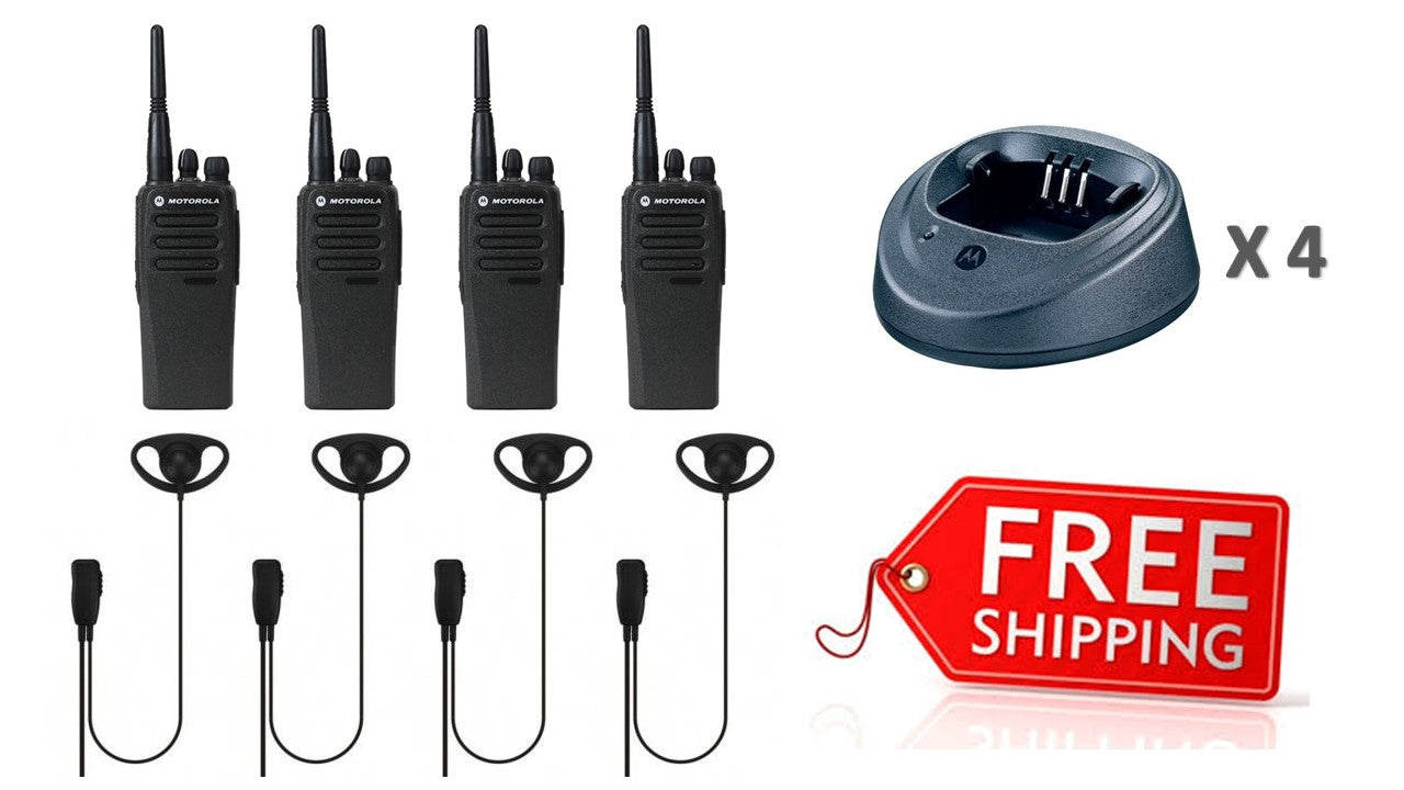 Motorola DP1400 Quad Pack with Earpieces