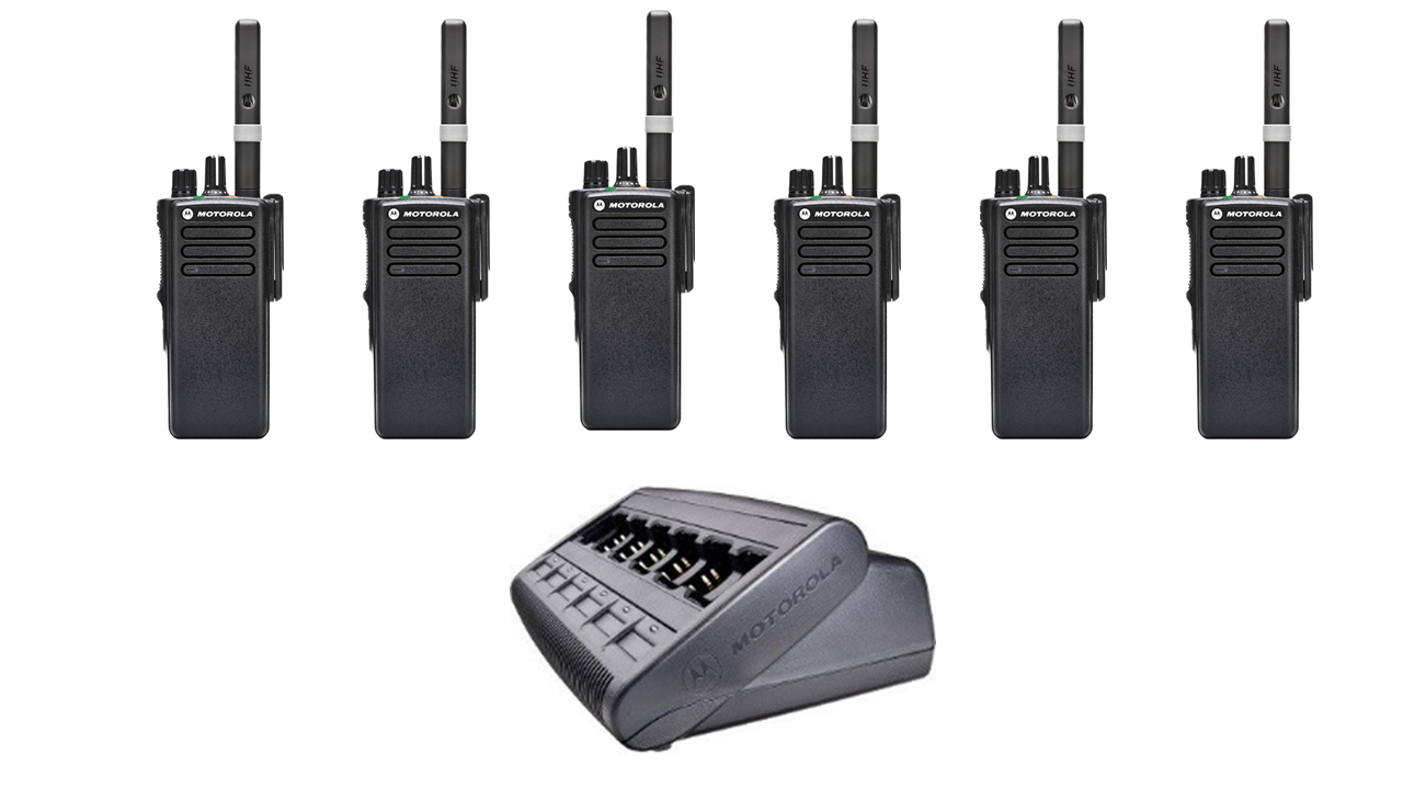 Motorola Two Way Radio Hire Uk Wide - 6 Pack
