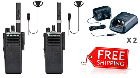 Motorola DP4400e Portable Two Way Radio Twin Pack With Earpieces_Radio-Shop UK