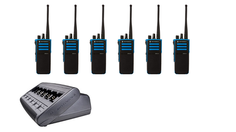 Motorola Atex Two Way Radio Hire - 6 Pack Portable