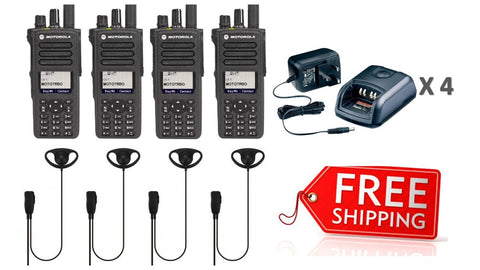 Motorola DP4800e Digital Two Way Radio - Quad Pack