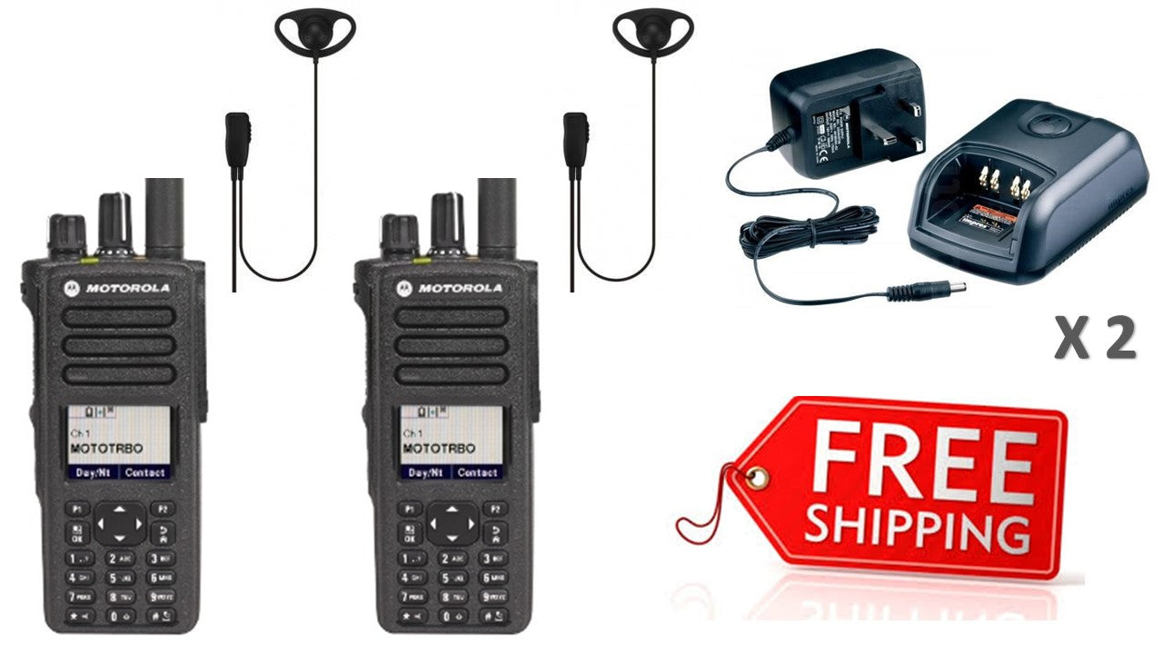Motorola DP4800e Digital Two Way Radio - Twin Pack