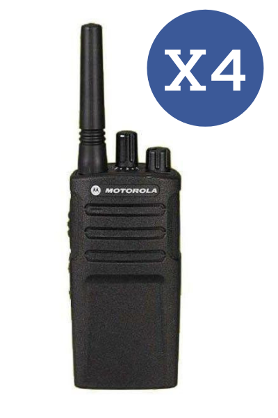 Motorola XT420 Quad Pack (WITH Chargers) License Free Radio - Web Special