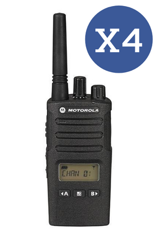 Motorola XT460 Quad Pack (WITH Chargers) License Free Radio - Web Special