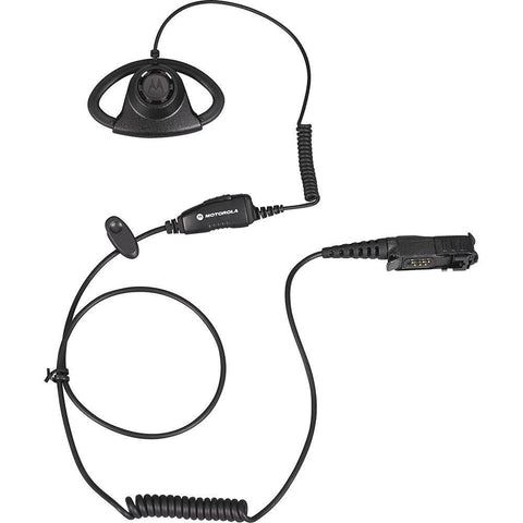 Bundle - Motorola Adjustable D-style Earpiece with in-line Microphone (Black) - PMLN6757_Radio-Shop UK