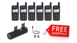 Complete Package - 6 X Motorola SL4000e Digital Two Way Radio With Acoustic Earpiece - Radio-Shop.uk - 1
