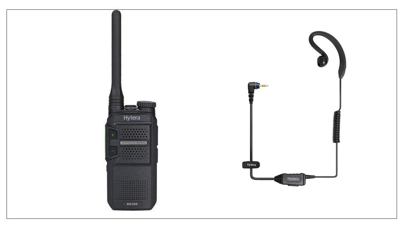 Hytera Bd305Lf Two Way Business Radio & Earpiece Licence Free Radios