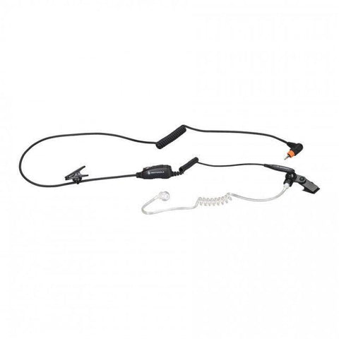 Motorola Surveillance earpiece with Mic and PTT Combined (Black) - PMLN7158A_Radio-Shop UK