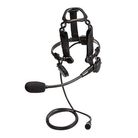 Motorola Tactical Heavy-Duty Temple Transducer with Boom Microphone - PMLN6833_Radio-Shop UK