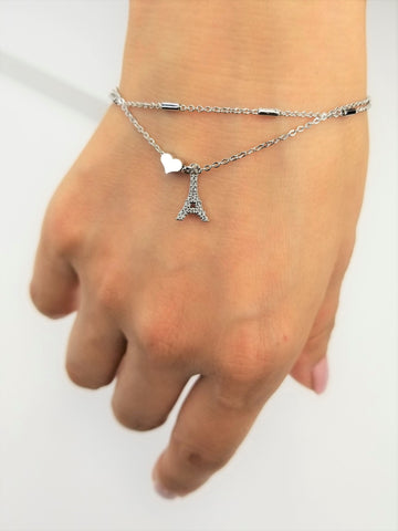 Double Layered Eiffel Tower Bracelet
