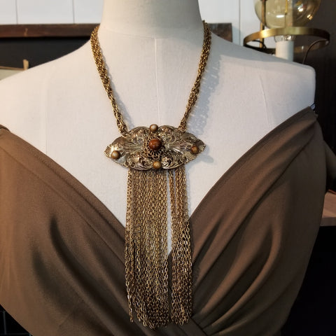 Vintage 80s Tassel Necklace
