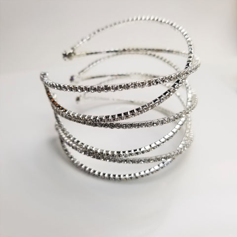 Crystal Three X Cuff Bracelet