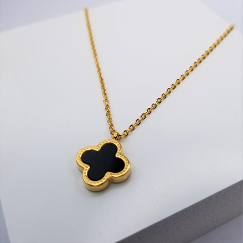 Double Sided Flower Necklace