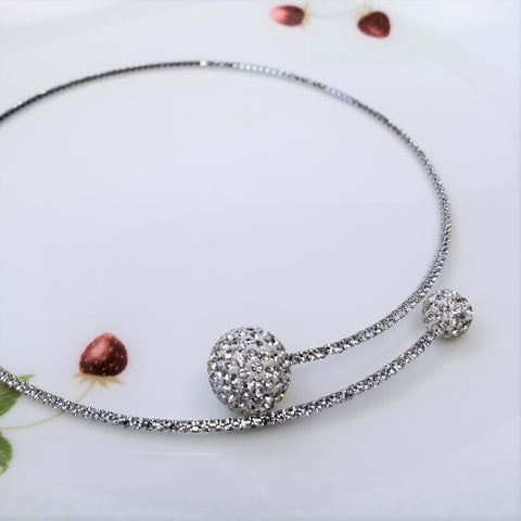 Crystal Ball Choker Necklace