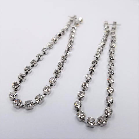 Long Line Crystal Earrings