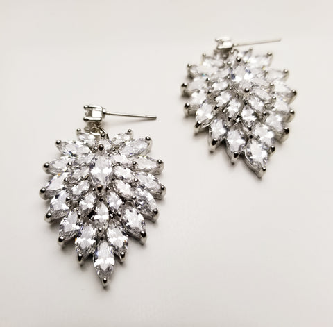 Crystal Cornflower Earrings