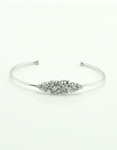 Rectangle Crystal Cuff Bracelet