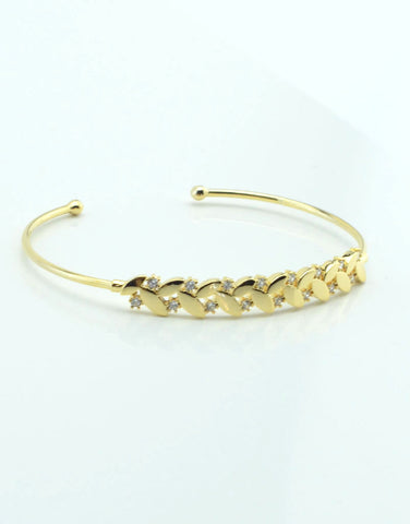 Laurel Leaves Cuff Bracelet