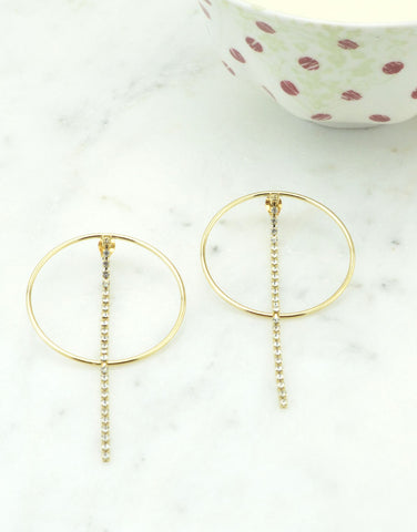 Circle Dropdown Earrings