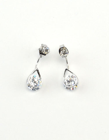 Cryatal Tear Drop Earrings