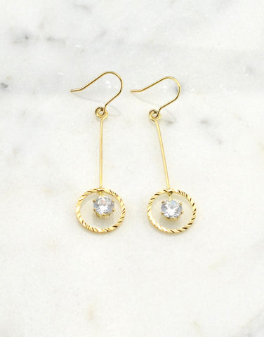 Circle One Drop Earrings