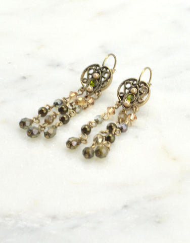Long Beads Drop Earrings