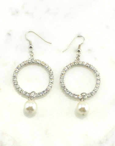 Sparky Pearl Drop Earrings