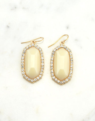 Faceted Pebble Earrings