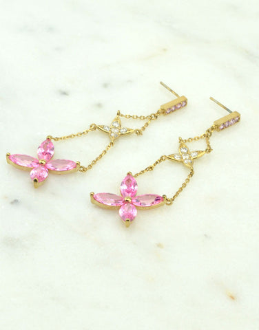 Flower Chandelier Earrings