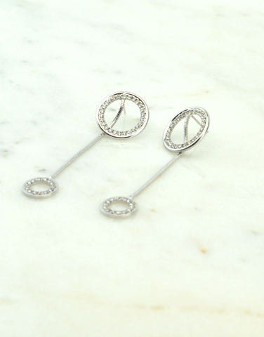 Drop Double Circle Earrings