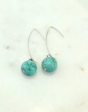 Dangles Turquoise Earrings