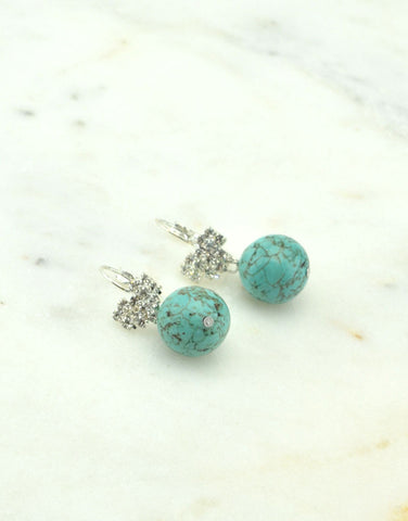 The Heart of Turquoise Earrings