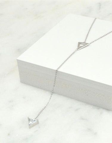 Y Necklace with Triangle