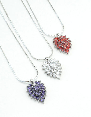 Crystal Cornflower Necklace