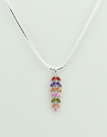 Crystal Leaves Necklace
