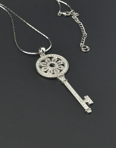 Lucky Key Charm Necklace
