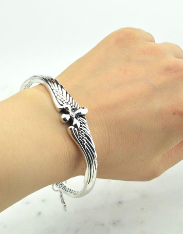 Cross Wings Bangle