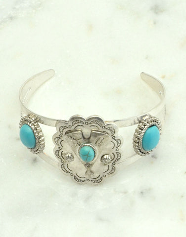 Tribal Turquoise Cuff Bracelet