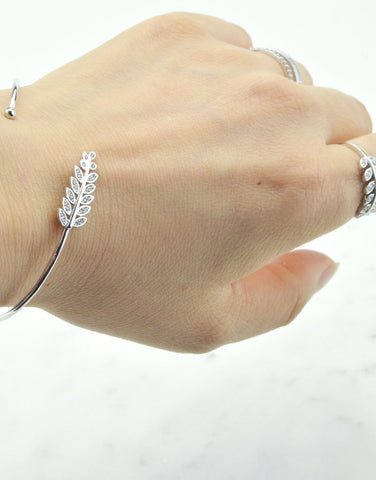 Adjustable Leaf Cuff Bracelet