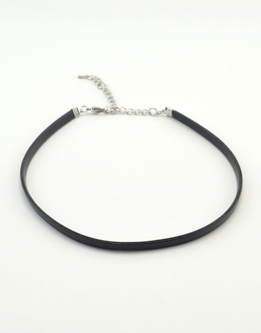 Solid Vegan Leather Choker