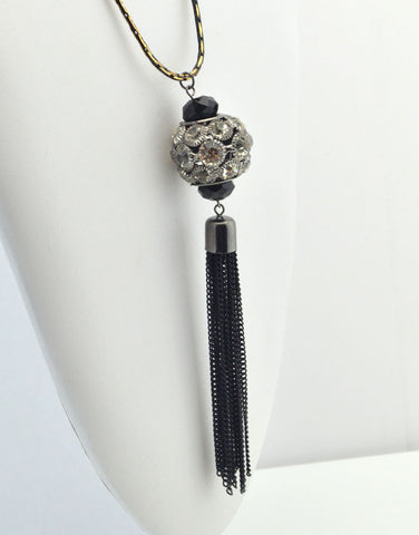 Sparky Tassel Necklace