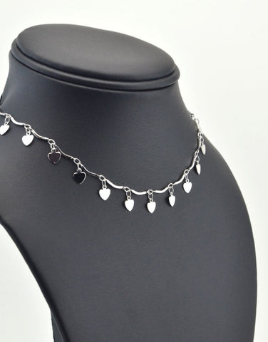 Dangle Heart Choker