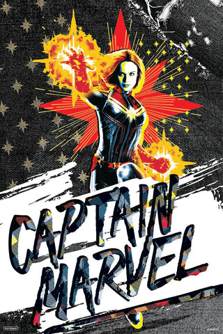 Captain Marvel Poster by Posterboy