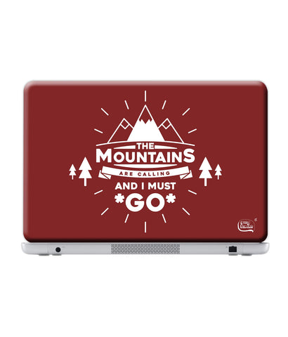"Mountains are caling - 17"" Laptops (38.6 cm X 25.1 cm) - Posterboy"
